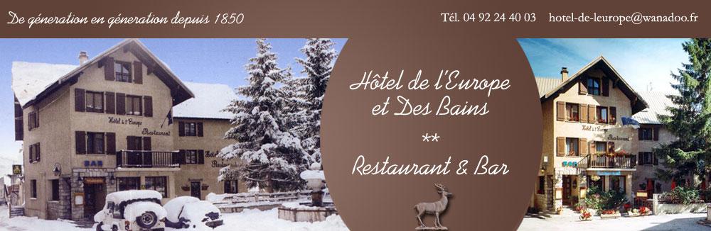 Hôtel de l'Europe et Des Bains, Monetier les Bains, Serre Chevalier